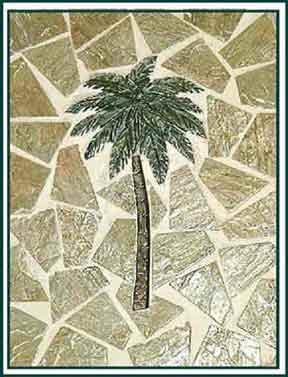 Small Green Mosaic Single Palm